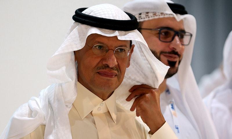 FILE PHOTO: Saudi Arabia's new Energy Minister, Prince Abdulaziz bin Salman takes a tour at the exhibition during the 24th World Energy Congress in AbuDhabi